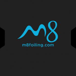 M8 foil scale sticker Blue